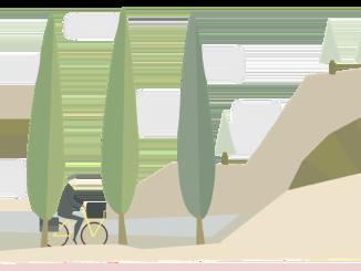 Mit dem Grillfahrrad unterwegs