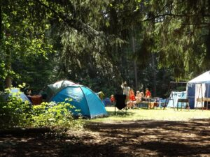 Grillfahrrad beim Campen