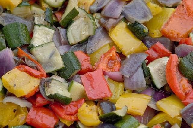 Fertig gegrilltes Gemüse