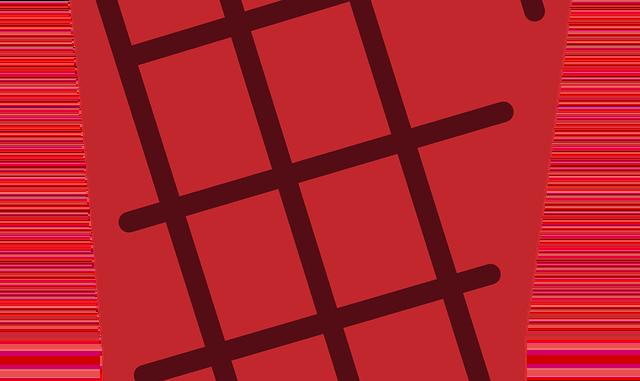 Roter Handschuh zum grillen